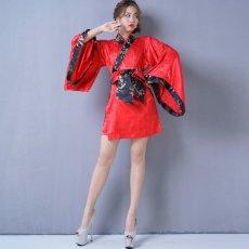 画像9: 【再入荷】和柄着物ドレス 和柄 衣装 ダンス よさこい 花魁 コスプレ キャバドレス (9)