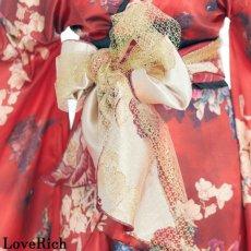 画像14: 【再入荷】フリル 豪華 蝶々柄 花魁 着物 ドレス イベント コスプレ キャバドレス ハロウィン (14)