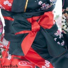 画像12: ツートンカラー 和柄 花魁 着物 ドレス ダンス よさこい 花魁 コスプレ キャバドレス (12)