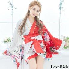 画像4: ツートンカラー 和柄 花魁 着物 ドレス ダンス よさこい 花魁 コスプレ キャバドレス (4)