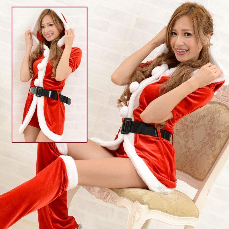 画像1: サンタ4点セットクリスマス サンタコスチューム キャバドレス (1)