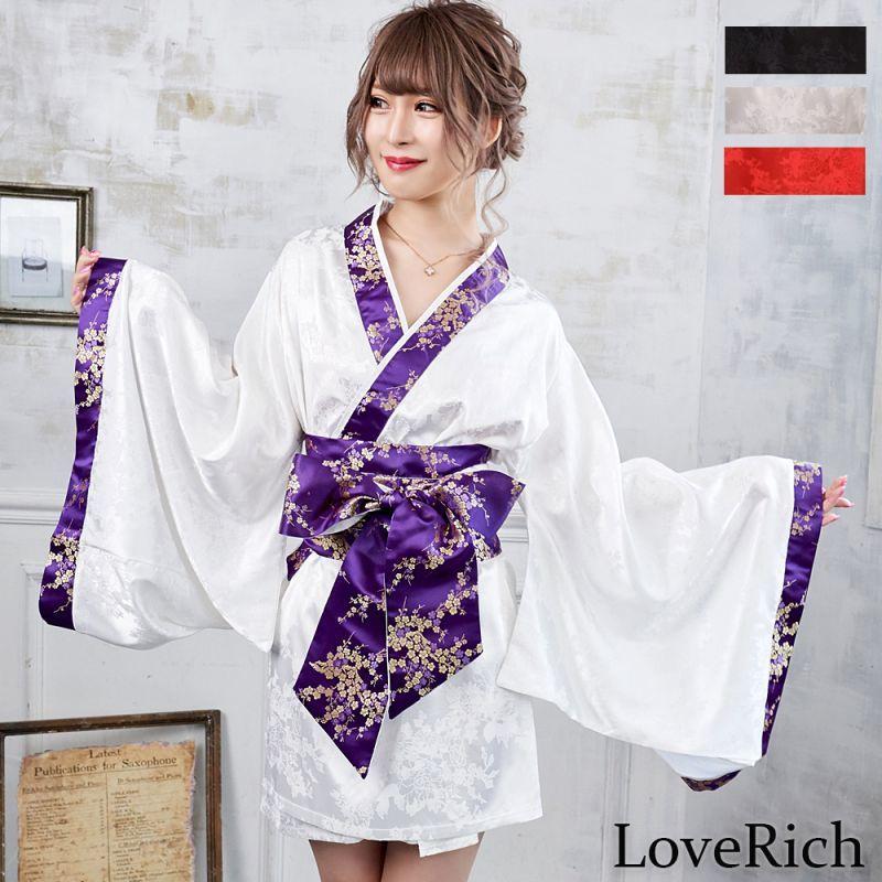 画像1: 【再入荷】和柄着物ドレス 和柄 衣装 ダンス よさこい 花魁 コスプレ キャバドレス (1)